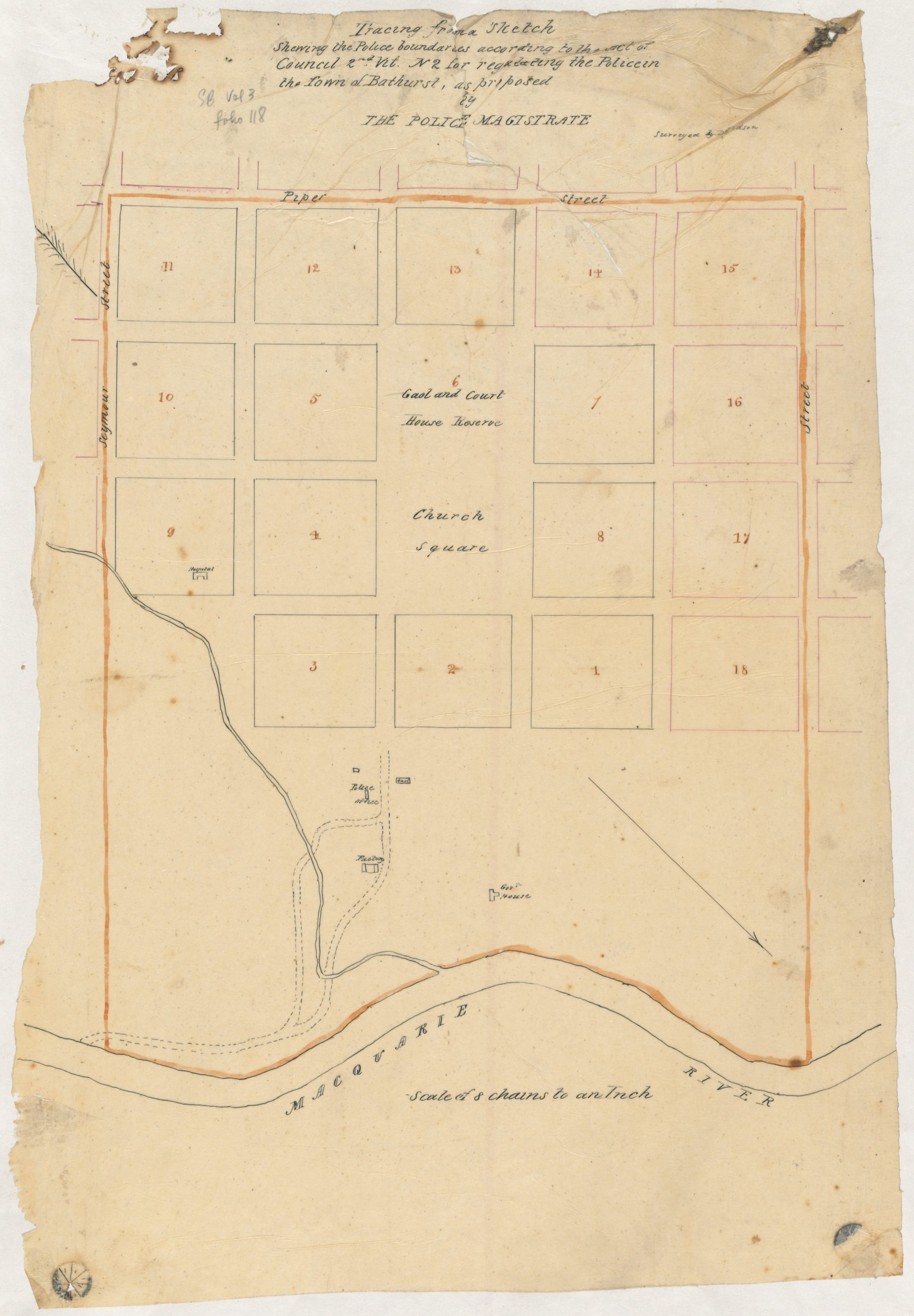 1838 - Bathurst Police boundaries