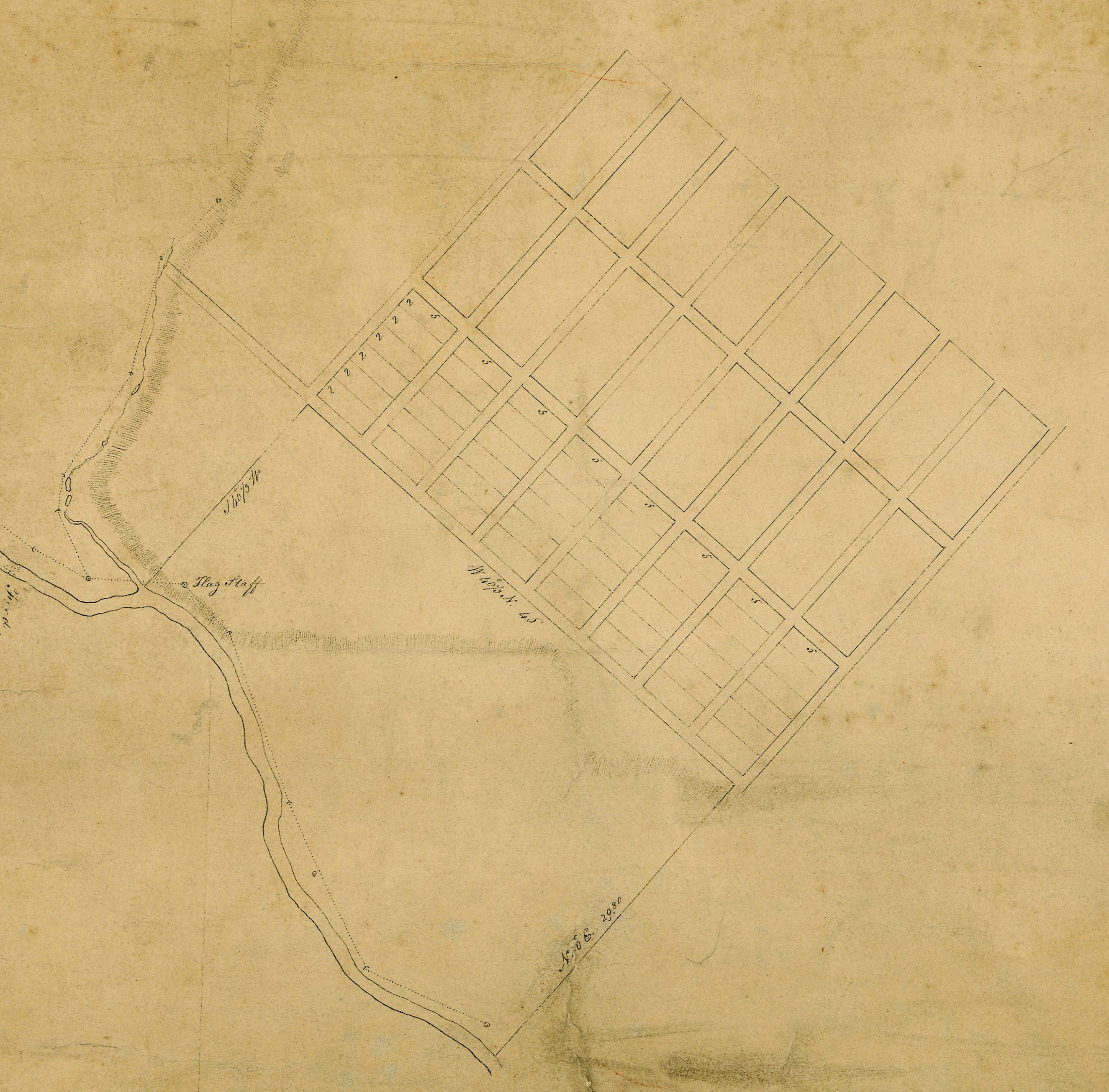 1815 - Macquarie Town Plan of Bathurst