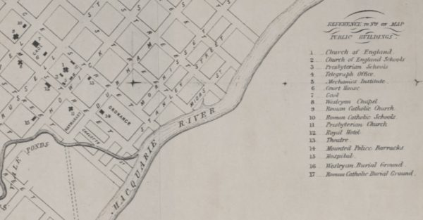 1862 - The first Commercial Map of Bathurst