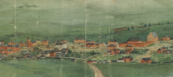 C1860s - Watercolour View of Bathurst (Artist unknown)