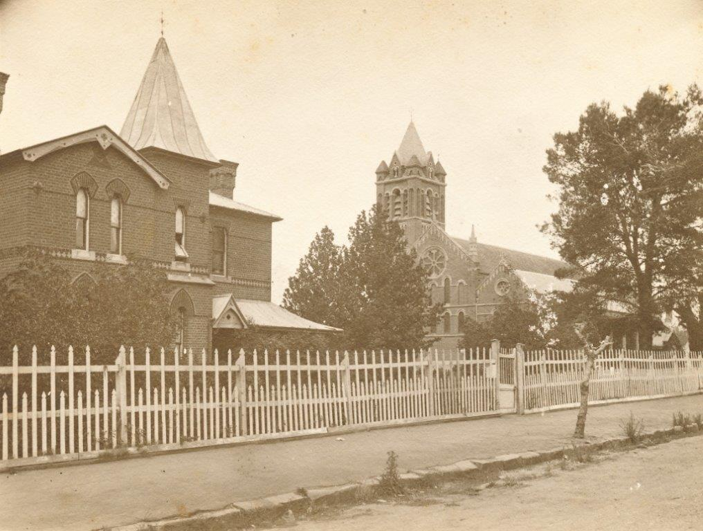 All Saint's Cathedral & Rectory - c1895 View