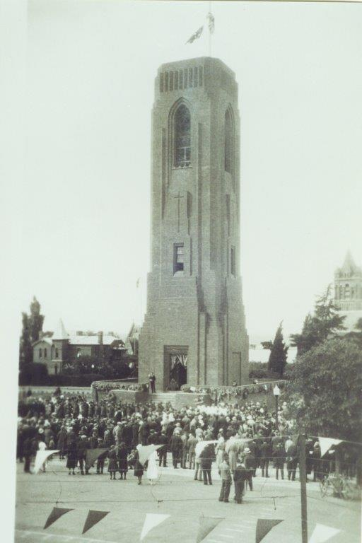 View from 1st floor of Bathurst Post Office overlooking the Carillon - Armistice Day 1933