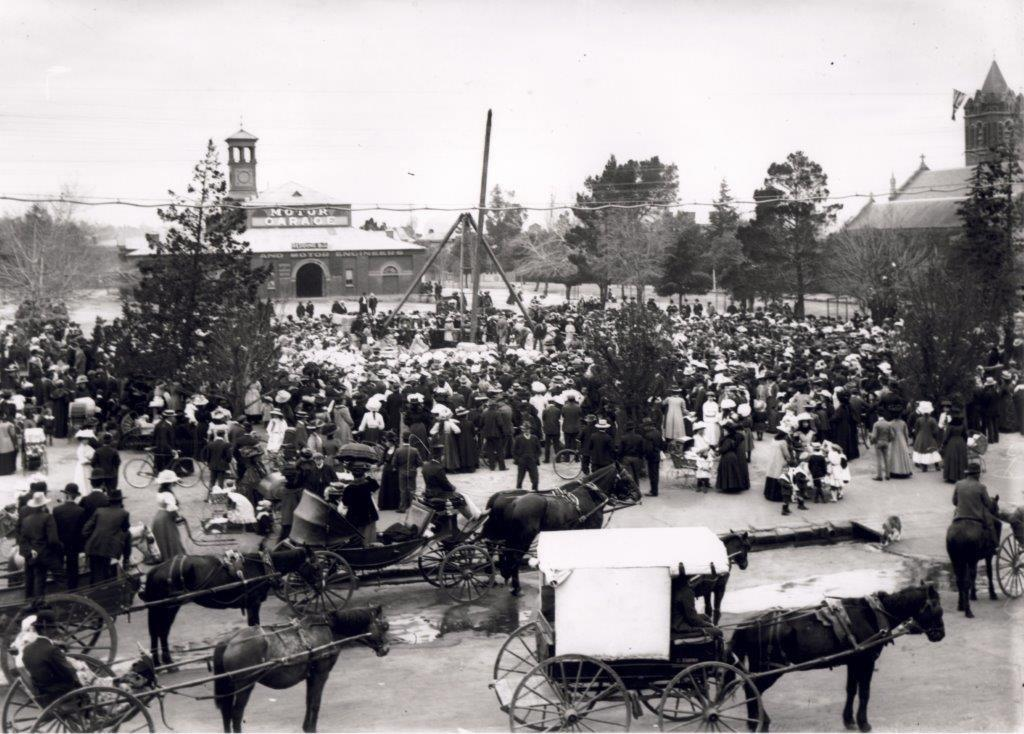 Laying of the Foundation Stone, South African Boer War Memorial - Empire Day 1909