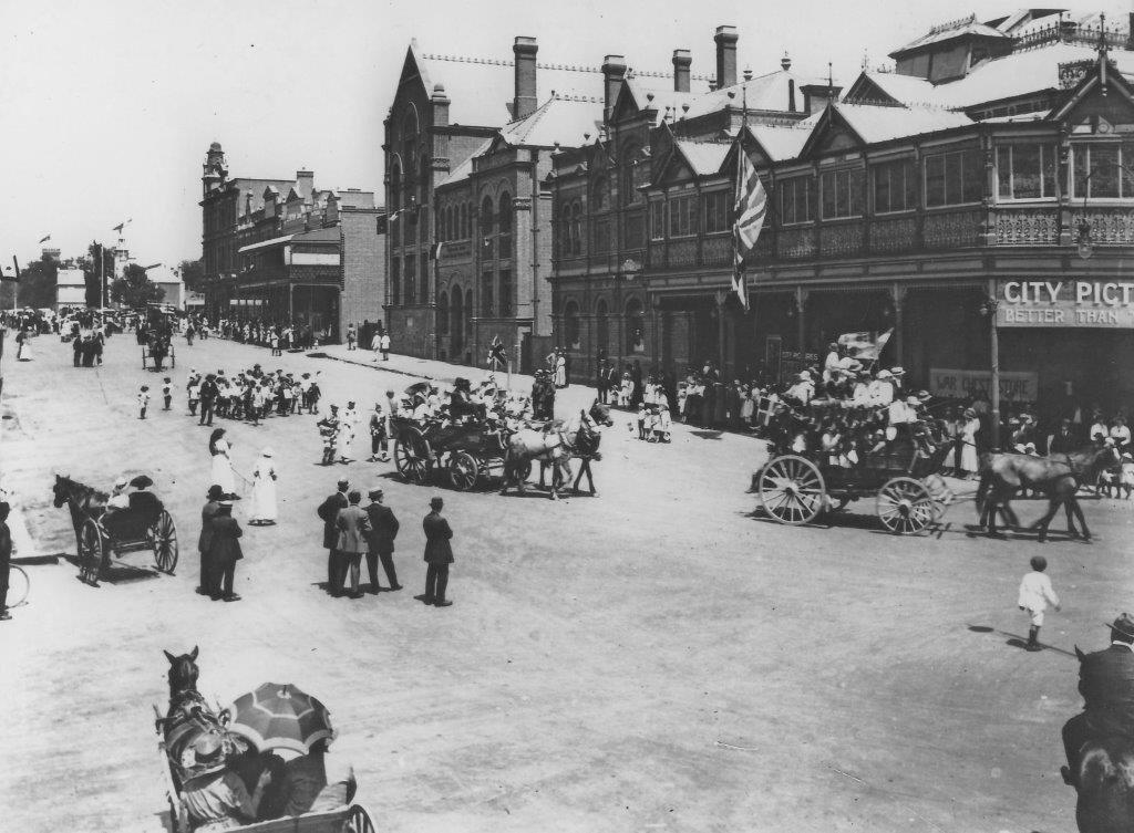 The Peace Celebrations Parade - Armistice late 1918