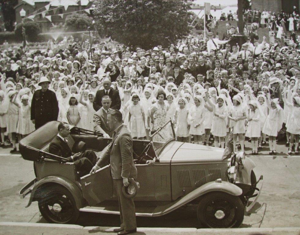 Duke of Gloucester's Visit to Bathurst Nov. 1934 for the War Memorial Carillon opening