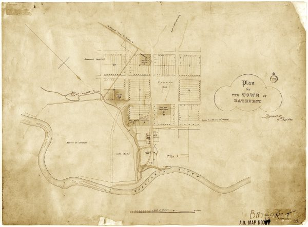 1833 - Mitchell Town Plan of Bathurst