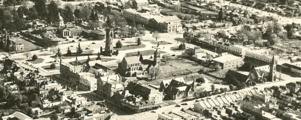 C1955 - Aerial photograph of central Bathurst