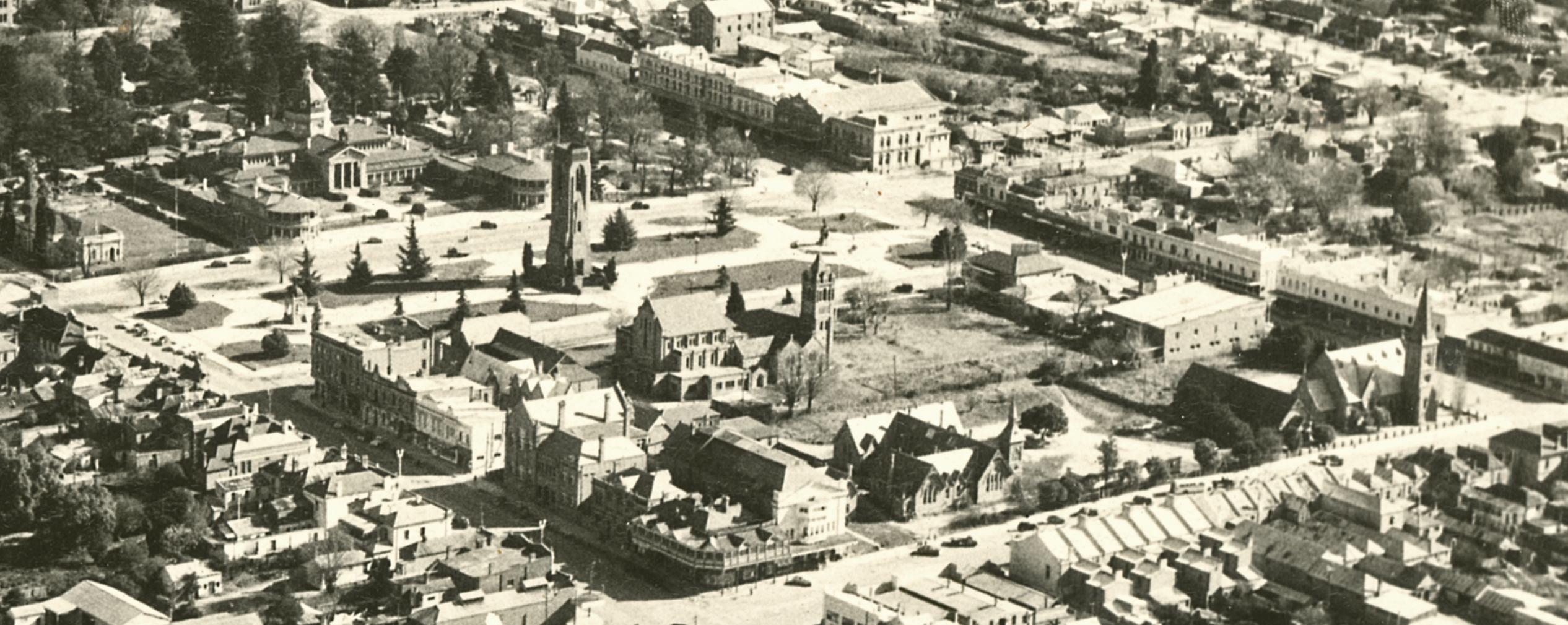 C1955 - Aerial photograph of central Bathurst