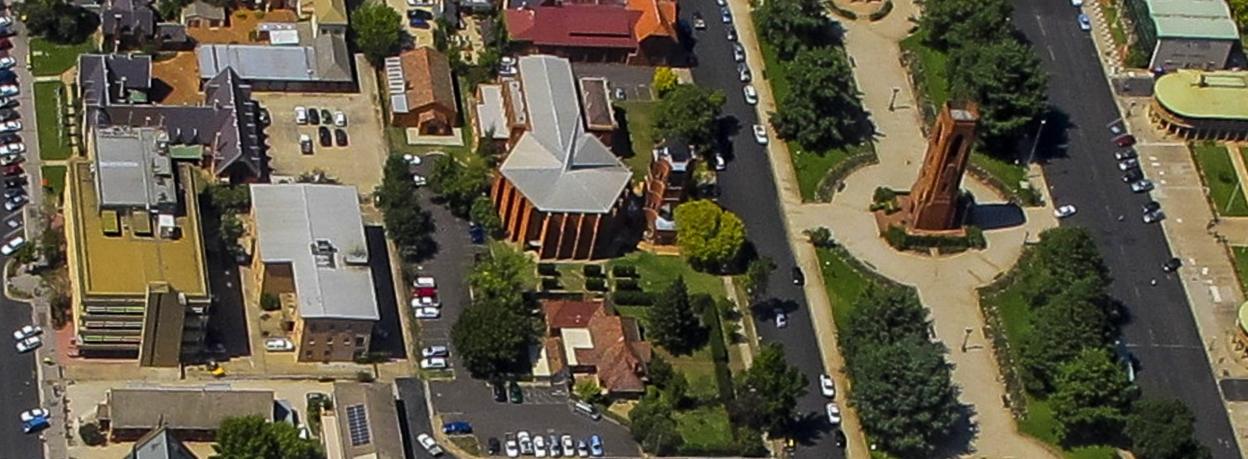 2015 aerial photograph of Bathurst Town Square